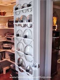 kitchen cabinet door pot and pan lid rack organizer home hacks 15 tips to organize your kitchen coupons