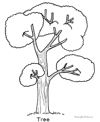 Tree Coloring Page 007 Tree Coloring Pages