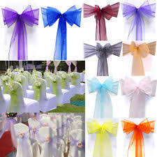 wedding chair bows 100 chair sashes venue decorations ebay