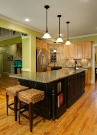 kitchen l shaped island kitchen gleaming l shaped island with honed granite countertop