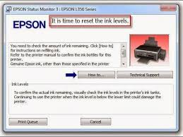 epson l replacement instructions it s time to reset ink levels ink red light appear epson printer