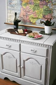 rustic farmhouse buffet in annie sloan u0027s pure white styling