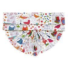 Kids Roman Shades - owal pattern multi color fan shaped kids roman shades