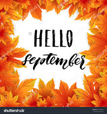 thanksgiving card templates hello september autumn flyer template lettering stock vector