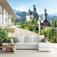 3d Wallpaper For Living Room online get cheap castle 3d wallpaper aliexpress com alibaba group