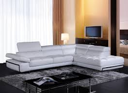 Modern White Leather Sectional Sofa by Casa Myst Mini Modern White Eco Leather Sectional Sofa