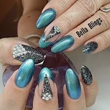 easy nail art glitter acrylic nails acrylic glitter nail designs tutorials for learners