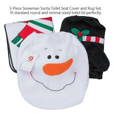 amazon com d fantix 3 piece snowman santa toilet seat cover and