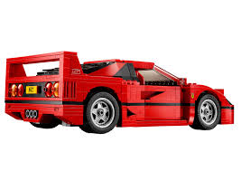 peugeot lego lego ferrari f40 announced iconic 1987 supercar u0027s blockbuster toy