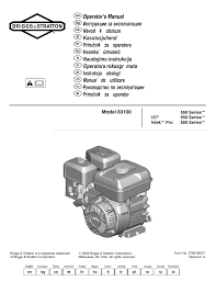 briggs u0026 stratton i c intec pro 83100 user manual 84 pages
