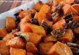 best yam recipes thanksgiving roasted yams with maple dried cranberries and pecans for the