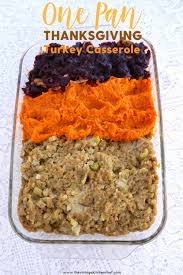 one pan thanksgiving turkey casserole is great for a family