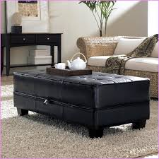 creative of black leather ottoman black leather storage ottoman