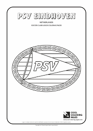 cool coloring pages soccer clubs logos psv eindhoven logo