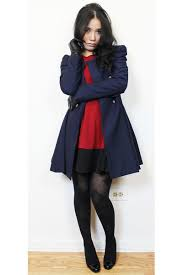 navy coats ruby red a line dresses black tights black leather
