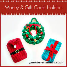 free crochet pattern money gift card holders pattern paradise