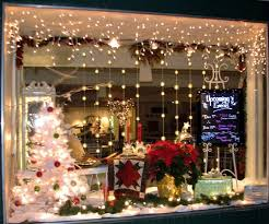 christmas mood and atmosphere christmas windowon in red with
