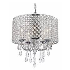 Ceiling Chandelier Crystal Chrome Chandelier Pendant Light With Crystal Beaded Drum