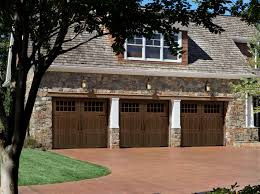 exterior design full lite interior slab doors by reliabilt doors wonderful exterior design with stone siding and wooden garage doors by reliabilt doors with pretty landscape