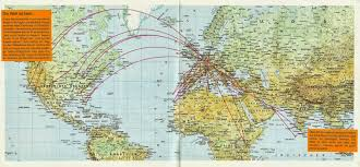 Turkish Airlines Route Map by Airline Memorabilia Octubre 2013
