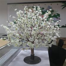 artificial cherry blossom tree wedding table centerpieces