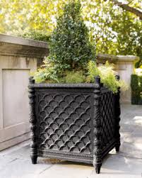 Black Urn Planter by French Garden Accents In Classical And Country Styles