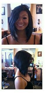 how to grow out short stacked hair inverted bob long bangs short in the back hair shizz pinterest