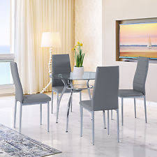 Dining Table With Grey Chairs Grey Table And Chair Sets Ebay