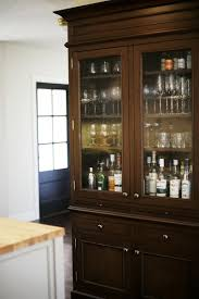 Oak Bar Cabinet Stained Oak Bar Cabinet Is Built To Feel Like A Separate Of