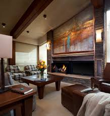 wood painting techniques with brown leather armchair family room