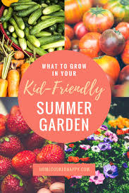 Summer Gardening - what to grow in your kid friendly summer garden home cooked happy