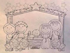 baby jesus manger coloring printables
