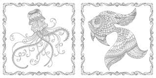 lost ocean an inky adventure u0026 colouring book amazon co uk