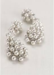 drop earrings wedding pearl and drop earrings david s bridal