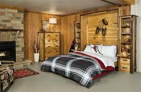rustic hickory queen murphy bed