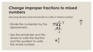 Mixed Numbers To Improper Fractions Worksheet Change To A Mixed Number Boxfirepress