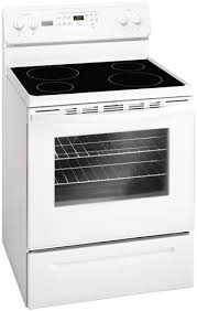 Cooktop Electric Ranges Frigidaire Mff3025rw 220 Volts Electric Range White Smooth Top