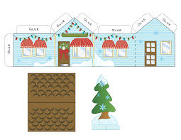 free printable paper christmas house printable paper free