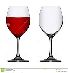 wine vector full and empty red wine glass vector illustration stock vector