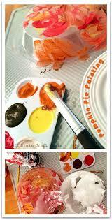 five minute crafts pumpkin pie painting messy play pumpkin