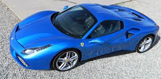 cars ferrari blue icons of speed picking up the blu corsa ferrari 488 spider