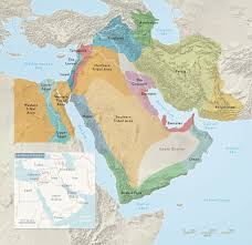 Arabian Desert Map Charting U201cthe 17 Nations Of The Middle East U201d Vanity Fair