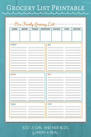 Shopping List Template Excel Best 25 Grocery List Templates Ideas On Free