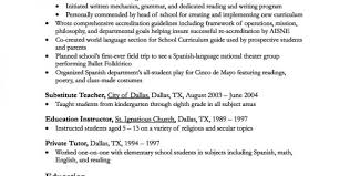 Special Education Resume Samples by Resume Teacher Objective Resume Profile Examples For Teachers