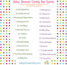 to play at baby showers baby shower candy bar printable pdf file answer key included