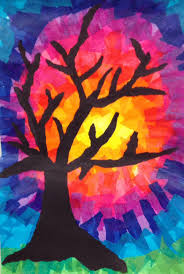 best 25 tissue paper trees ideas on pinterest tissue paper art