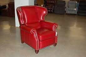klaussner home furnishings galaxy mars red leather wingback
