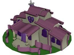 minnie mouse cartoon house 3d model 3d cad browser