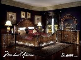 Poster Canopy Bedroom Sets Bedroom Sets Excelsior  PC - Dark wood queen bedroom sets