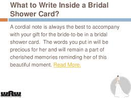 words for wedding shower card what to write in a bridal shower card